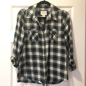 Tops - Green Plaid Shirt